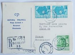1970 Carte Postale, Bucuresti, Bucarest-Paris France, Roumanie, Romania - 1948-.... Républiques