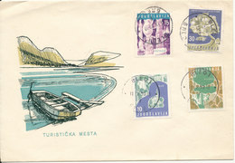 Yugoslavia Cover Bled 11-9-1959 With 4 Stamps Turism And Cachet - Covers & Documents