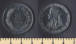 Turkey 2 1/2 Lira 1979 - Turquie