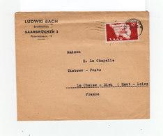 Sur Enveloppe Timbre Saar CAD Saarbrücken 1948. Destination: France. La Chaise Dieu. (1099x) - 1947-56 Occupation Alliée