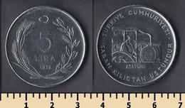 Turkey 5 Lira 1978 - Turquie