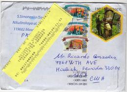 Letter Sent From Russia To USA Returned To Sender 2019 Marcophilia - 1992-.... Federation