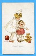 Couple Enfants Kinder Children Teddy Bear Sign.Tilly Von Baumgarten - Bambini