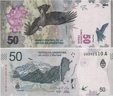 ARGENTINA    50 Pesos    P-New    ND (2018)    UNC  [sign. Caputo - Monzó] - Argentine