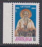 Yugoslavia 1985 St. Methodius 1v ** Mnh (41865F) - Ongebruikt