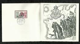 PREMIER JOUR . COMMEMORATION DE L'ARRIVEE DES EMIGRES POLONAIS EN FRANCE . 03 FEVRIER 1973 . AUCHEL . - FDC