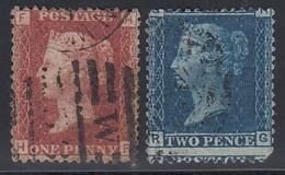 GB 1858 - MiNr: 16-17  Used - 1840-1901 (Viktoria)