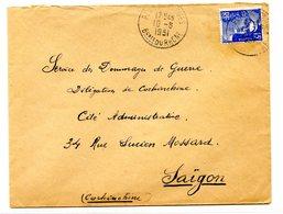 France, Marianne Sur Lettre 1951, De PLAN DE CUQUES à SAIGON (Cochinchine) - (B2116) - 1921-1960: Période Moderne