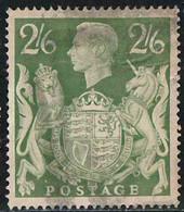 GB 1942 Yv. N°233 - 2/6 Vert Jaune - Oblitéré - Oblitérés