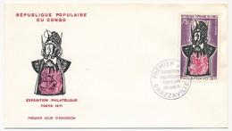 CONGO => 2 Enveloppes FDC => Philatokyo 1971 - 28 Juin 1971 - Brazzaville - FDC