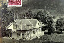 CALIMANESTI 1931, Muntii COZIEI Cu VILA Stil National, Animata, Rara, Timbru Baicoi - Romania