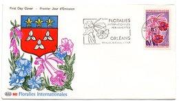 LOIRET - Dépt N° 45 = ORLEANS RP 1967 = FLAMME PREMIER JOUR N° 1528 = SECAP Illustrée  'FLORALIES INTERNATIONALES' - 1960-1969
