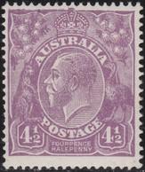 Australia   .    SG   .     92         .        **      .     MNH    .   /   .    Postfris - 1913-36 George V : Têtes
