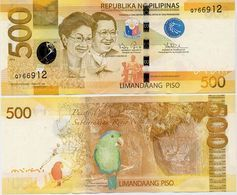 PHILIPPINES      500 Piso      P-210       2016      AUnc+  [staple Holes] - Filippine