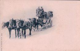 Postkutsche, Diligence Suisse Attelée De 5 Chevaux (601) - Cartes Postales