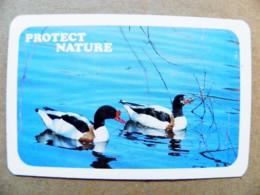 Small Calendar Ussr Animals Birds Oiseaux Ducks Protect Nature Soviet Airlines Aeroflot - Calendriers