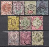 GB 1887 - MiNr: 86-97 10 Verschiedene  Used - 1840-1901 (Viktoria)