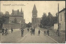 CPA Bourg-Léopold  L'Eglise Et La Poste - Leopoldsburg