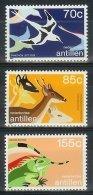 Mtx0879 FAUNA VOGELS HERT REPTIEL LEGUAAN BIRDS DEER IGUANA NEDERLANDSE ANTILLEN 1987 PF/MNH - West Indies