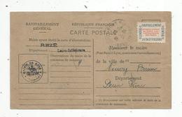 Timbre , Ravitaillement Général Sur Carte Postale , Neuf , REZE , Loire Inférieure , 1946 , 3 Scans - Neufs