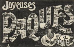 1 Cpa Joyeuses Pâques - Souvenir De  Honfleur - Honfleur