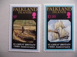 "Falkland  1993  N° Y&T 602/603   "" S.S. Great Britain""  2v.  Neuf - Falkland"