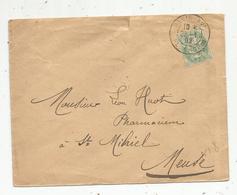 Lettre , 1902 , PARIS XV , PL. CHOPIN ,2 Scans - Marcophilie (Lettres)