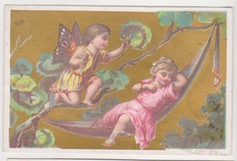 26842 Chromo Metivier Rue Calvaire NANTES 44 France - Botte D'or Chaussure -amour Ange Papillon - Autres