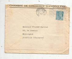 Lettre , 1944 , ANGOULEME , CHARENTE , Chambre De Commerce D'Angouléme ,2 Scans - 1921-1960: Période Moderne