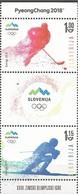 SI 2018-02 OLY PYEONGCHANG , SLOVENIA, 1 X 2v, MNH - Winter 2018: Pyeongchang