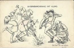 """CPA La Brabanchonne In't Vloms  """" Och Sire T'is Zoo Scheun  (Léopold II) - Satiriques"""