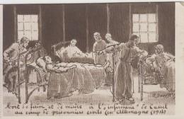 Dessin - Trouvé Mort De Faim Et De Misère à L'infirmerie De Cassel ( Camp De Prisonniers En Allemagne 1917 ) - War 1914-18