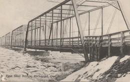 First Steel Bridge, Richmond, Quebec Premiere Pont En Acier - Quebec