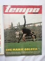 1978 TEMPO YUGOSLAVIA SERBIA SPORT FOOTBALL MAGAZINE NEWSPAPERS JOCKEY HORSE SHOW RED STAR PARTIZAN DINAMO DRESDEN RIOTS - Deportes