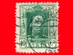 SPAGNA - Usato - 1923 - Re Alfonso XIII - Ritratto Rivolto In Avanti - 10 - 1889-1931 Regno: Alfonso XIII
