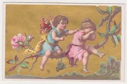 26844 Chromo Metivier Rue Calvaire NANTES 44 France - Botte D'or Chaussure -amour Ange Papillon - Autres