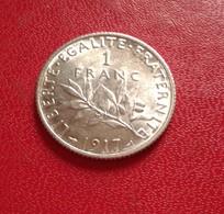FRANCE :1 FRANC SEMEUSE 1917 FDC (B8-10) - France