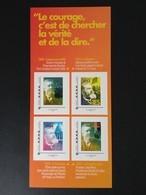 Collector 2016 - Jean Jaurès Une Vie Au Service De La Démocratie - 4 Timbres Lettre Verte - France