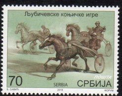 SERBIA, 2018, MNH, HORSES, HORSE RACING, LJUBICEVO EQUESTRIAN GAMES,1v - Horses