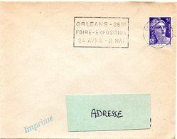 LOIRET - Dépt N° 45 = ORLEANS RP 1954 = FLAMME TEMPORAIRE = SECAP  'FOIRE EXPOSITION' - Marcophilie (Lettres)