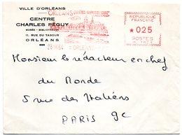LOIRET - Dépt N° 45 = ORLEANS  RP 1964 = EMA  Illustrée  ' Qui êtes Au Pays De Loire / Charles PEGUY ' - Marcophilie (Lettres)