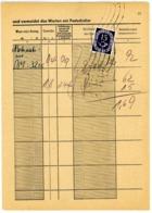Nr. 278 MEF Postkarte Per Bahnpost Nach Markt-Oberndorf - Michel 40 € - Allemagne