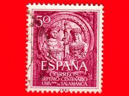 SPAGNA - Usato - 1953 - 700 Anni Dell'Uniiversità Di Salamanca - I Re Cattolici - 50 - 1931-Oggi: 2. Rep. - ... Juan Carlos I