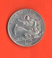 5 Lire 1931 Vaticano Vatikan Papa Pio XI Pope - Vaticano