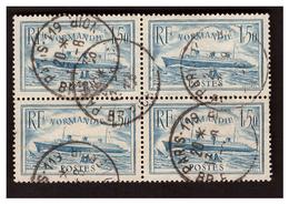 Bloc De 4 N° 300 Normandie Bleu Clair Obl. - France