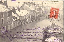 Chalon Sur Saone Inondations Des 24 & 25 Janvier 1910 Rue De Belfort - Chalon Sur Saone