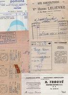 Lot De Divers Papiers En Doubles ( Factures Et Autres ) - 4 Scan. - France