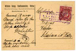 "Nr. 188 EF L 1 ""K. U K. Militäszensur"" Ra 3 Der ""Zensurstelle Pettau"" Postkarte - 1850-1918 Empire"