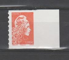 FRANCE / 2018 / Y&T N° AA 1600 ** : Marianne D'YZ (adhésif De Feuille) 1.00 € X 1 BdF D - état D'origine - Adhésifs (autocollants)