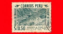 PERU - Usato - 1953 - Monumento Inca - Terrace-Agriculture - Mais - 0.50 - Perù